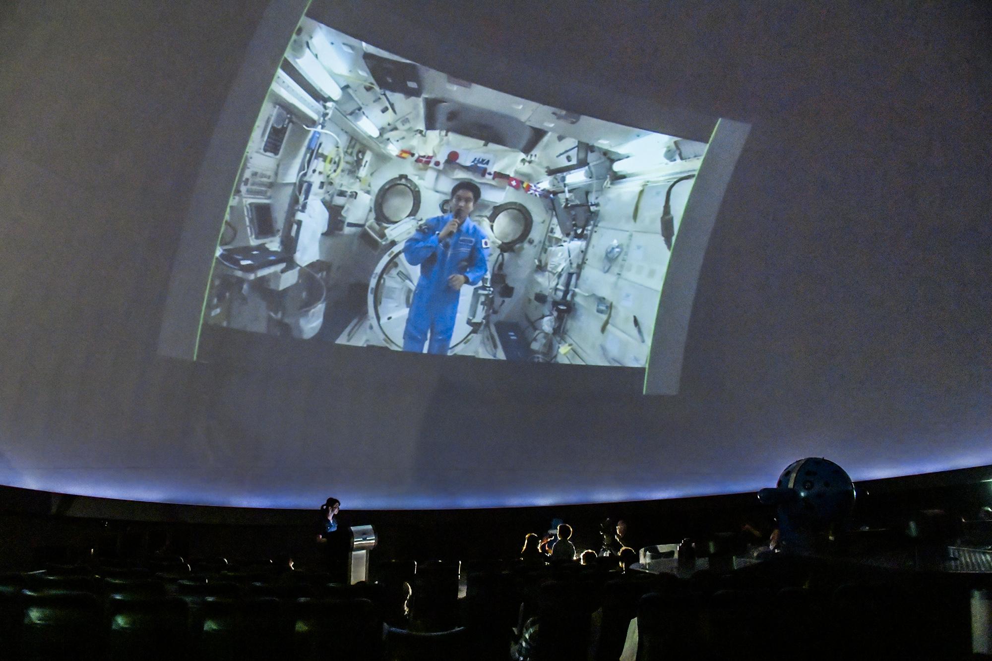 ISSとの交信の模様(東京会場)